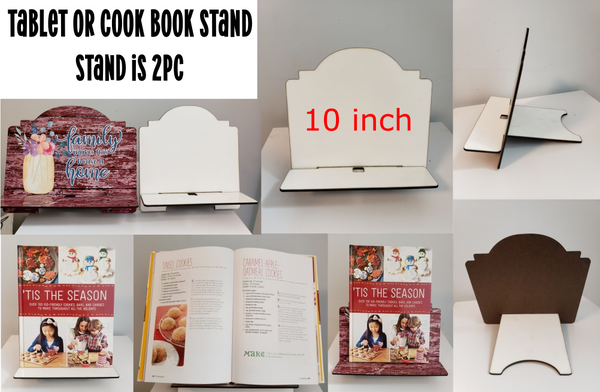 10 inch tablet or cookbook stand