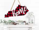 Sublimation print ONLY - Kentucky Buffalo plaid  print - Made for our MDF sublimation blanks
