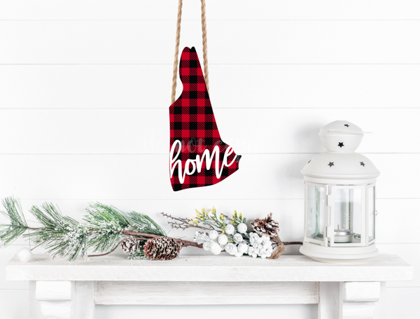 Sublimation print ONLY - New Hampshire buffalo plaid  print - Made for our MDF sublimation blanks