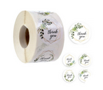 500 piece roll -  Thank you stickers - 1 inch in size - 4 different designs