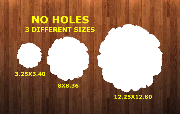 WITHOUT HOLES - Wood Slice circle with holes - Wall Hanger - 3 sizes to choose from -  Sublimation Blank  - 1 sided  or 2 sided options