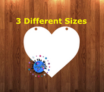Heart WITH holes - Wall Hanger - 3 sizes to choose from -  Sublimation Blank  - 1 sided  or 2 sided options