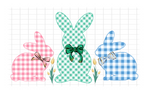 Sublimation print - Plaid bunny set