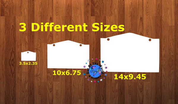 Window WITH holes - Wall Hanger - 3 sizes to choose from -  Sublimation Blank  - 1 sided  or 2 sided options