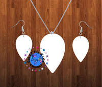 Upside down tear drop necklace sets- you get 10 sets - BULK PURCHASE 10pair earrings and 10pc necklace