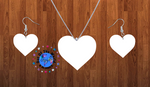 Heart necklace sets- you get 10 sets - BULK PURCHASE 10pair earrings and 10pc necklace