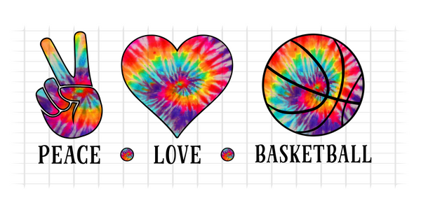 (Instant Print) Digital Download - PEACE - LOVE - BASKETBALL