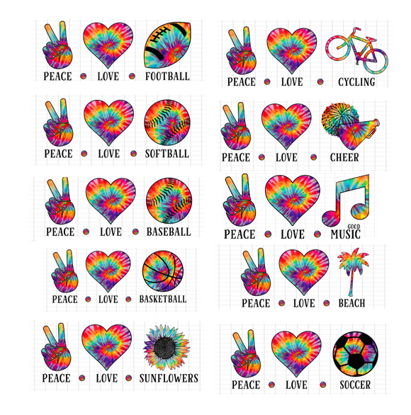 (Instant Print) Digital Download - ***10PC BUNDLE*** PEACE - LOVE - .......