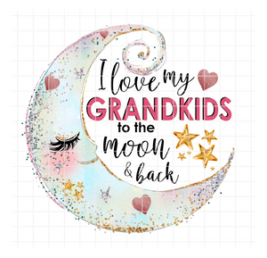 (Instant Print) Digital Download - I love my Grandkids to the moon and back