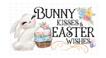 (Instant Print) Digital Download - Bunny kisses and Easter wishes