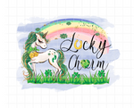 Sublimation print - Lucky Charm Unicorn