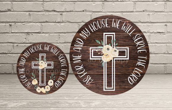 (Instant Print) Digital Download -  2pc set (you get both) As for me and my house, we will serve the lord.