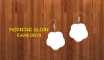 Morning glory earrings size 1.5 inch - BULK PURCHASE 10pair