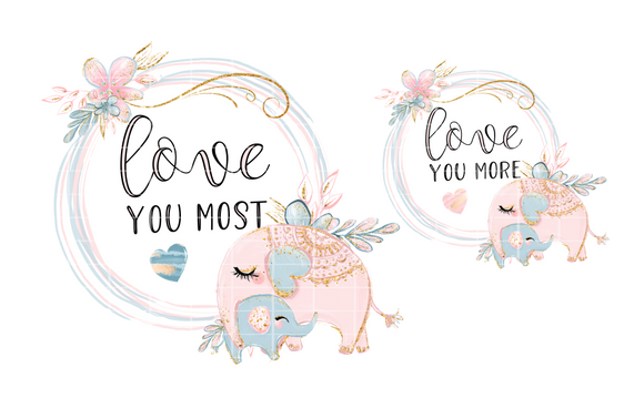 (Instant Print) Digital Download - Mommy and Me Elephant set