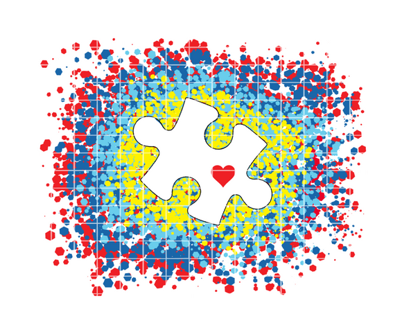 (Instant Print) Digital Download - Autism Splatter Design