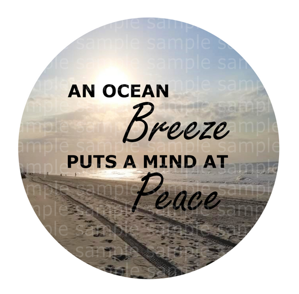(Instant Print) Digital Download - Ocean breeze- design made for MDF  blanks