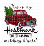 (Instant Print) Digital Download - This is my Hallmark Christmas Movie Blanket