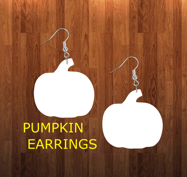 Pumpkin earrings size 1.5 inch - BULK PURCHASE 10pair