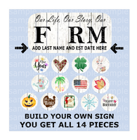 (Instant Print) Digital Download - 17 Piece Bundle for the MDF signs Home and Farm ( you get all )