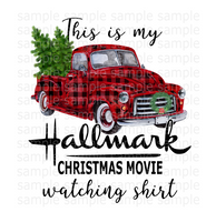 This is my Hallmark Christmas watching movie shirt (Instant Print) Digital Download