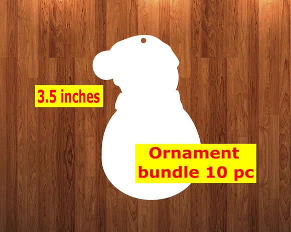 Snowman shape 10pc or 25 pc  Ornament Bundle Price