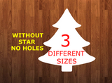 Tree WITHOUT holes - Wall Hanger - 3 sizes to choose from -  Sublimation Blank  - 1 sided  or 2 sided options