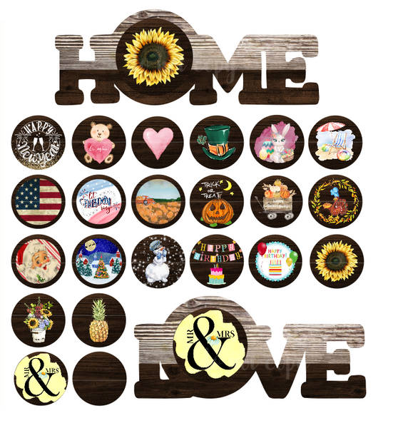 Sublimation print - Home or Love  sign combo - Made for our MDF blanks