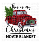 (Instant Print) Digital Download - This is my Christmas movie blanket
