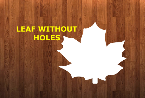 Leaf without holes - Wall Hanger - 3 sizes to choose from -  Sublimation Blank  - 1 sided  or 2 sided options