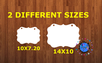Benelux WITH holes - Wall Hanger - 2 sizes to choose from -  Sublimation Blank  - 1 sided  or 2 sided options