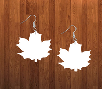 Leaf earrings size 2 inch - BULK PURCHASE 10pair