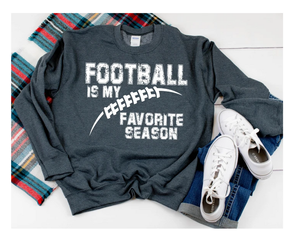 Football is my favorite season screen print
