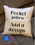 Pocket Pillow Case (add your own book) Great for sublimation !