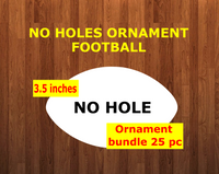 NO HOLES Football shape 10pc or 25 pc Ornament Bundle Price
