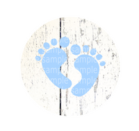 Instant Print) Digital Download - Baby feet circle (ONLY) for the HOME and FARM design