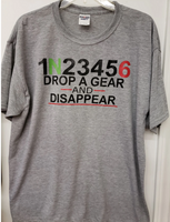 Drop a gear and disappear motorcyle screen print