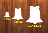 Bell with holes - Wall Hanger - 3 sizes to choose from -  Sublimation Blank  - 1 sided  or 2 sided options