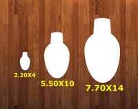Light bulb with hole - Wall Hanger - 3 sizes to choose from -  Sublimation Blank  - 1 sided  or 2 sided options