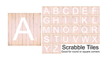 (Instant Print) Digital Download - Scrabble tiles, complete set A-Z - Made for out MDF blanks