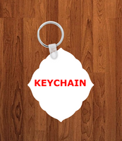 Fancy diamond Keychain - Single sided or double sided  -  Sublimation Blank