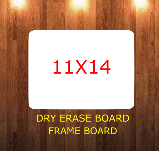 Rectangle 11x14 inch round corner -  Sublimation Blank MDF - Single and Double sided