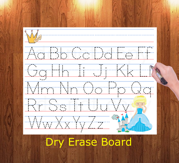 (Instant Print) Digital Download - Traceable letter sheet - Made for out MDF blanks