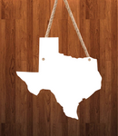 Texas State Hanger- 3 different sizes use drop down bar -  Sublimation Blank MDF Single & Double Sided