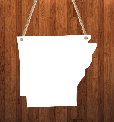 Arkansas State Hanger- 3 different sizes use drop down bar -  Sublimation Blank MDF Single & Double Sided