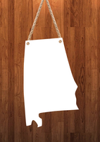 Alabama State Hanger- 3 different sizes use drop down bar -  Sublimation Blank MDF Single & Double Sided
