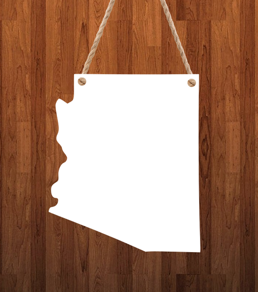 Arizona State Hanger- 3 different sizes use drop down bar -  Sublimation Blank MDF Single & Double Sided