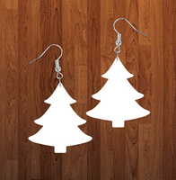 Christmas tree earrings size 2.5 inch - BULK PURCHASE 10pair