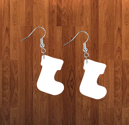 Stocking earrings size 2 inch - BULK PURCHASE 10pair