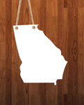 Georgia State Hanger- 3 different sizes use drop down bar -  Sublimation Blank MDF Single & Double Sided