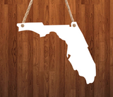 Florida State Hanger- 3 different sizes use drop down bar -  Sublimation Blank MDF Single & Double Sided